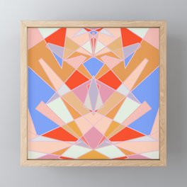 Flat Geometric no.35 Shapes and Layers Framed Mini Art Print