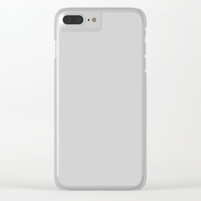 American Silver - Solid Grey Clear iPhone Case