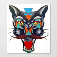 panther Canvas Prints featuring panther by Ronan Holdsworth