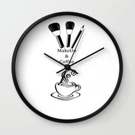 Makeup & Coffee Wall Clock