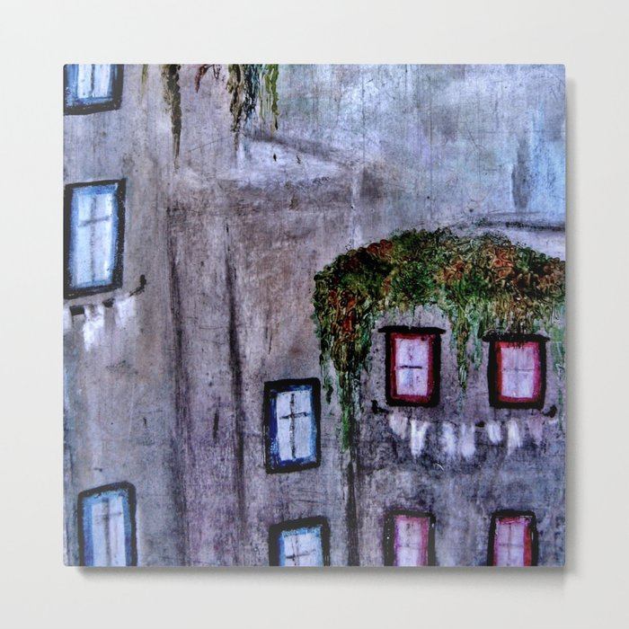 Houses in Milan in the evening Italy Metal Print