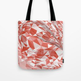 Abstract coral white modern geometrical triangles Tote Bag
