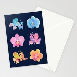 Orchid mantis - Dark Stationery Cards
