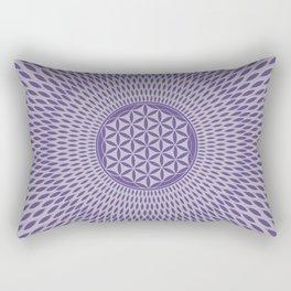 Flower of life Ultra violet on misty lilac Rectangular Pillow