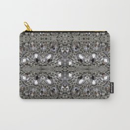 girly chic glitter sparkle rhinestone silver crystal Carry-All Pouch