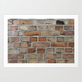 Vintage red brick wall texture Art Print