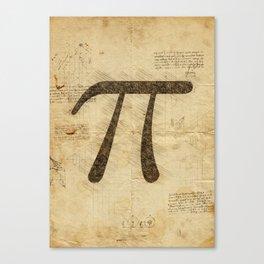 Pi Day grunge Canvas Print