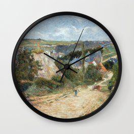 Entrance to the Village of Osny by Paul Gauguin Wall Clock