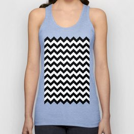Chevron (Black/White) Unisex Tank Top