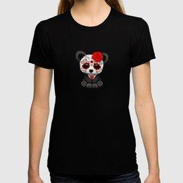 Red Day of the Dead Sugar Skull Panda T-shirt