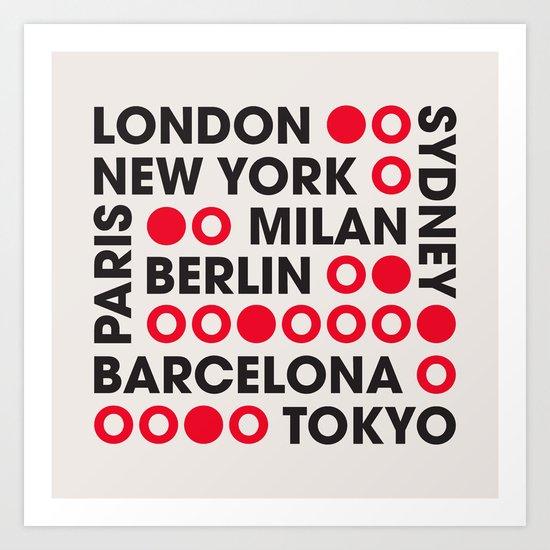 I Love This City Typography Art Print