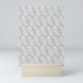 BOHEMIAN PEACOCK FEATHERS Mini Art Print
