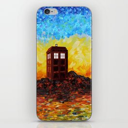 Time and Space Traveller Box in Twilight Zone iPhone Skin