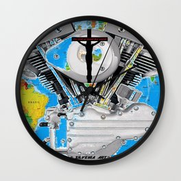 For God So Loved the World...Biker Ministry. Wall Clock
