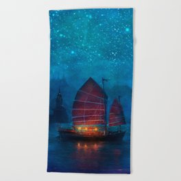 Our Secret Harbor Beach Towel