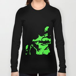 Green and Black Long Sleeve T-shirt