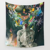 archan nair Wall Tapestries featuring Ia:Sija by Archan Nair