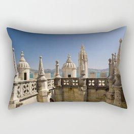 ornamental turrets in the Torre de Belem, Lisbon Rectangular Pillow