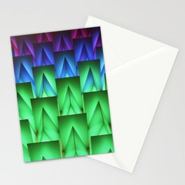 Neon Shapes Stationery Cards