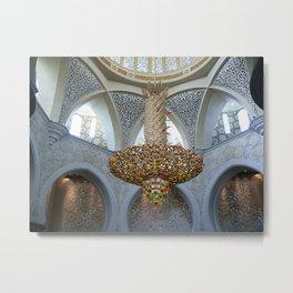 Dubai - Magnificent Chandelier 2 Metal Print