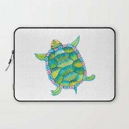 Tropical sea turtle - turquoise aqua blue Laptop Sleeve