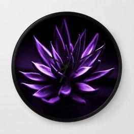 Succulent Plant In Purple Color #decor #society6 #homedecor Wall Clock