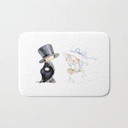 Little Bride and Groom Bath Mat