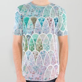 DAZZLING MERMAID SCALES All Over Graphic Tee