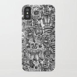 gargoyles black white iPhone Case