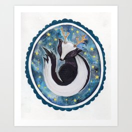 Sir Skunkalope Art Print