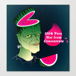 Frankenmelon 100% pure, not from concentrate! Canvas Print