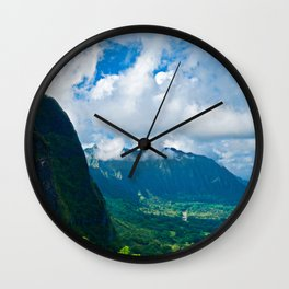 Pali Lookout View 1 Wall Clock