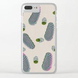Pine cone Clear iPhone Case