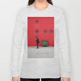 Red Hong Kong Long Sleeve T-shirt