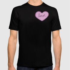Love in your heart. Black MEDIUM Mens Fitted Tee