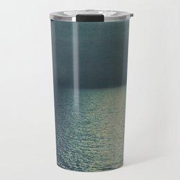 sea - emerald sunset Travel Mug