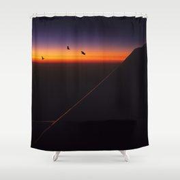 Horizon Sunset Shower Curtain