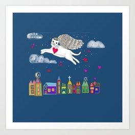 Kitty Angel Art Print