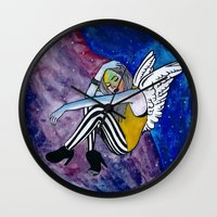 astronomy Wall Clocks featuring ASTRONOMY OF PEOPLE by Ish Afeef