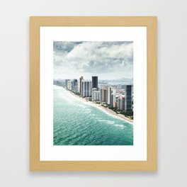 fort lauderdale skyline Framed Art Print