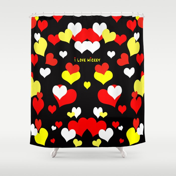 I Love Mickey Shower Curtain