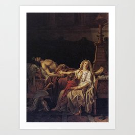 Jacques-Louis David - Andromache Mourning Over the Body of Hector Art Print