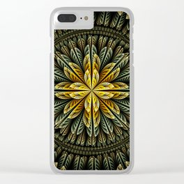 Autumn fantasy flower and petals Clear iPhone Case