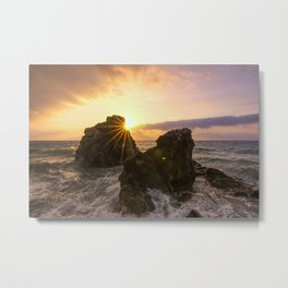 Amazing atmosphere at golden hour Metal Print