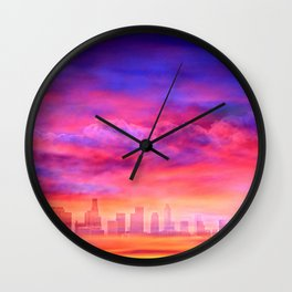 City Sunset Wall Clock