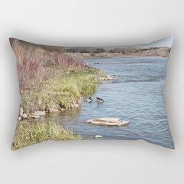 Ducks on the Bow River Rectangular Pillow