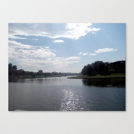 Vistula River, Kraków, Poland Canvas Print