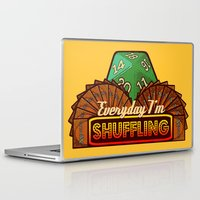 magic the gathering Laptop & iPad Skins featuring Everyday I'm Shuffling  |  Magic The Gathering by Silvio Ledbetter