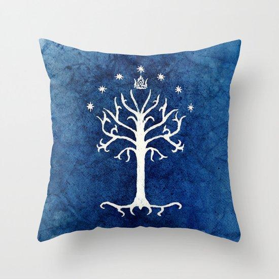 The White Tree Throw Pillow