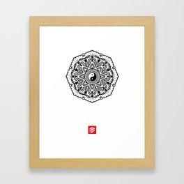 Taoist Lotus Mandala Framed Art Print